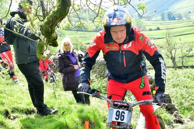 Silsden's Dougie Lampkin won the Stan Pitts Trophy trial at Halton Gill. Picture: Barry Robinson
