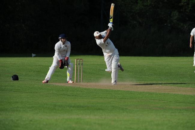 Iqbal Khan hit 51 not out for Skipton against Alwoodley on Saturday