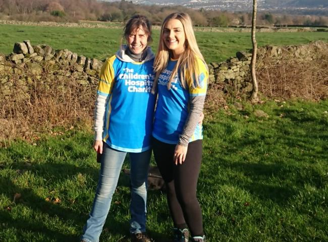Rachel Bearpark and her daughter Caitlin who are climbing Kilimanjaro