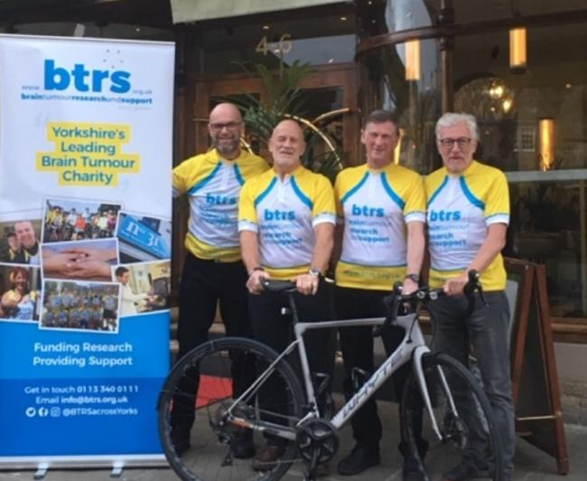 The Rotary cyclists ready to embark on their Yorkshire boundary ride
