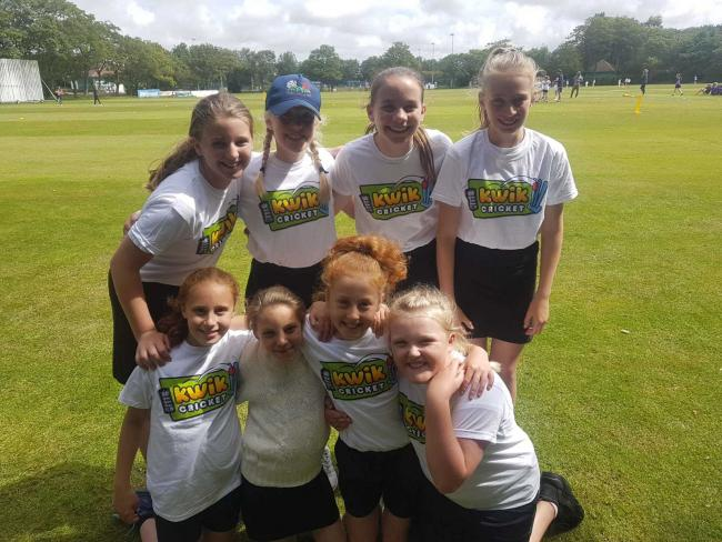 Earby Springfield girls' Kwik Cricket team were crowned the 2019 Lancashire County champions
