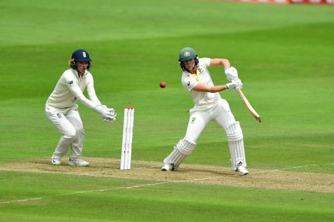 Australia's Ellyse Perry finished the opening day of the Test unbeaten on 84