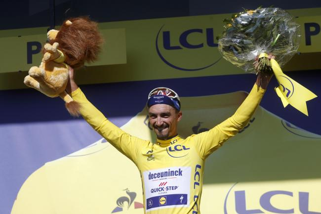 France's Julian Alaphilippe strengthened his hold on the yellow jersey on Friday