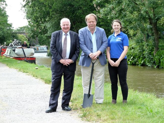 From left: Professor Colin Mellors, from the York, North Yorkshire and East Riding LEP Board; Councillor Simon Myers, Craven District Council's lead member for Enterprising Craven, and Lizzie Dealey, partnerships and external relationships manager,
