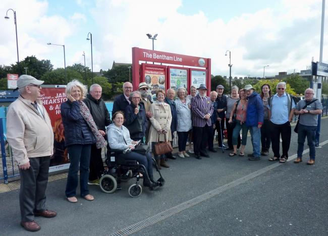 Members of Demetia Friendly Skipton enjoyed a trip to Morecambe on the Bentham Line