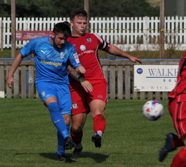 Barnoldswick Town's Zack Dale was on fire against AFC Darwen. Picture: Peter Naylor