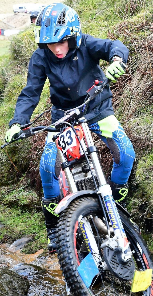 Harry Hemingway defied the weather and only had two marks at the Yeadon-Guiseley Motor Club trial on Sunday. Picture: Barry Robinson