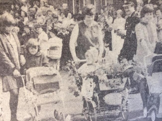 Settle Carnival in 1967 showing a decorated prams parade