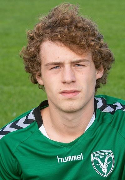 Kayle Price opened the scoring for Steeton with a fine volley
