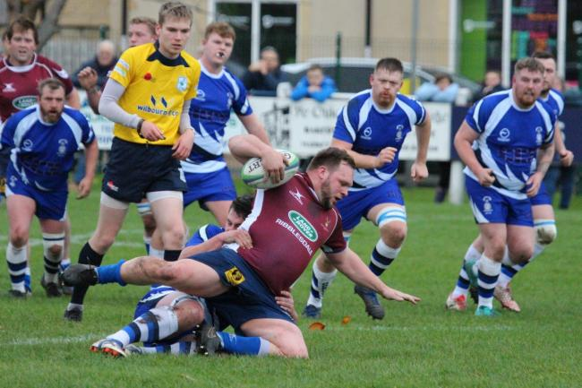 Centre Ryan Sumner scored a try for North Ribblesdale. Picture: Amelia Bullock
