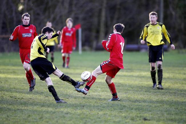 Jeremy Gee scored Grassington United's first two goals in the West Riding County Challenge Cup