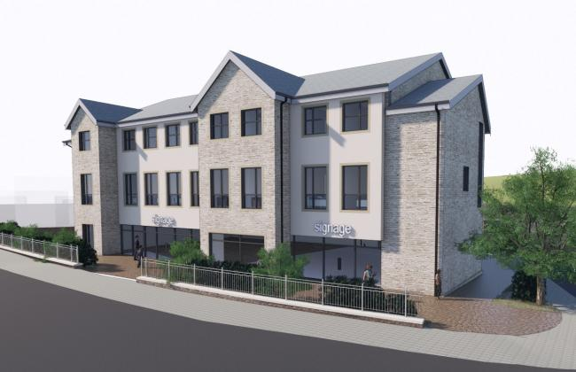 An artist impression of the development at Whitefriars car park in Settle