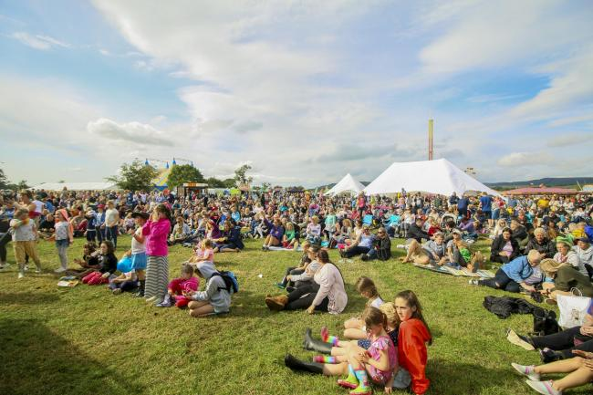 Crowds at this year's Yorkshire Dales Food Festival