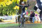 Sophie Thackray won the women's cyclo-cross race at Myrtle Park. Picture: Thomas Gadd