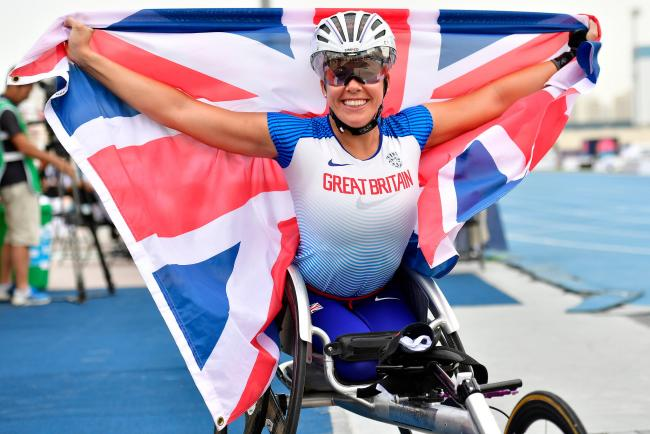 Hannah Cockroft won T34 800m and 100m gold at the World Para-Athletics Championships this year