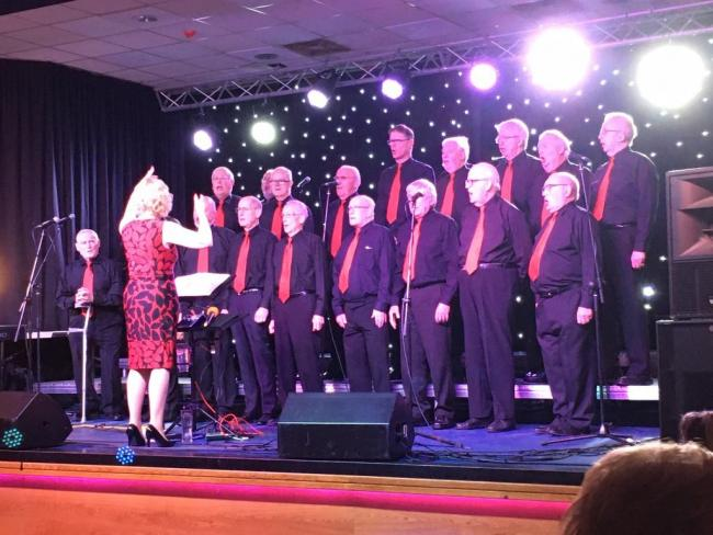Steeton Male Voice Choir took to the stage at Leeds Irish Centre as part of a concert in memory of murdered schoolteacher Ann Maguire