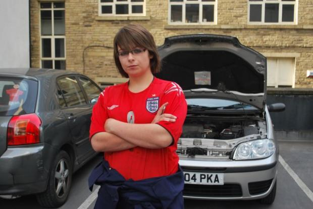 Jeanne Goodall loves to sort out whatever's going wrong under a car's bonnet