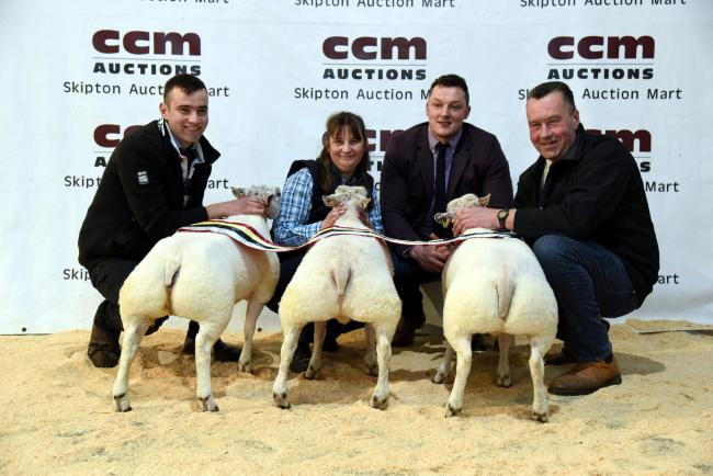 The Lancasters with their prime lamb champions. Picture Adrian legge Photography