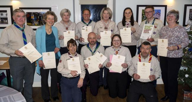 Award winners at the recent ceremony in Stainforth