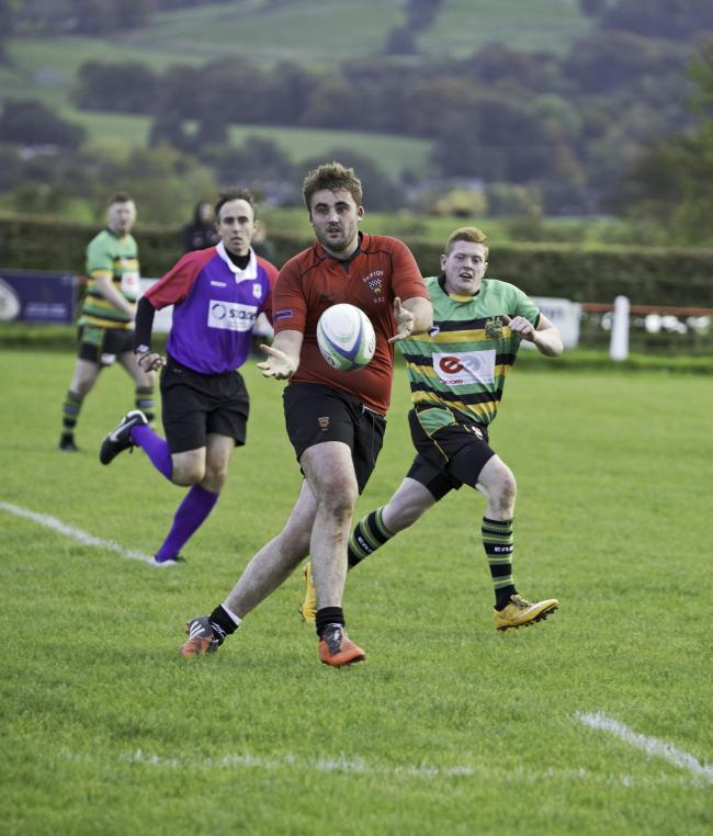 Prop Harry McEneaney made an impact coming off the bench for Skipton