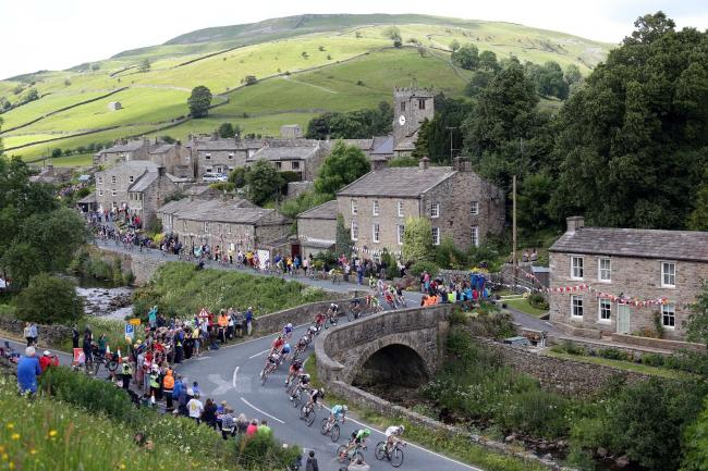The Tour De France passes through Swaledale in 2017