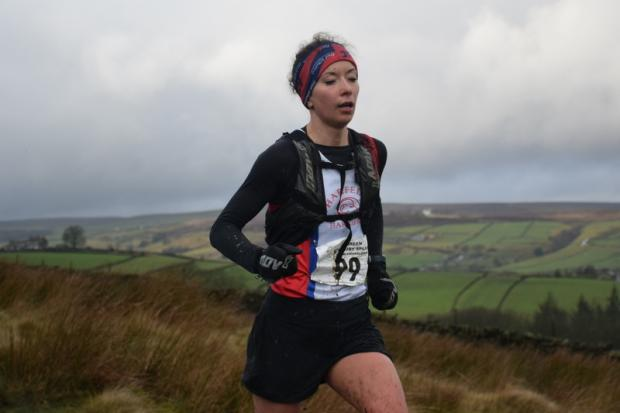 Wharfedale's Ailish Graham won the Stanbury Splash ladies' race. Picture: Dave Woodhead