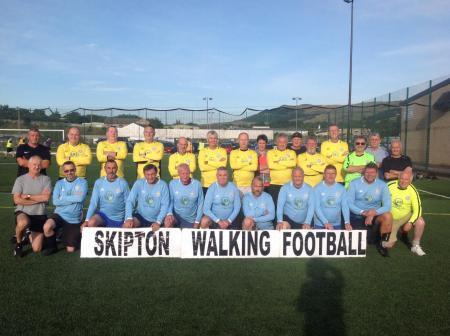 Some of the members of Skipton Walking Football Club