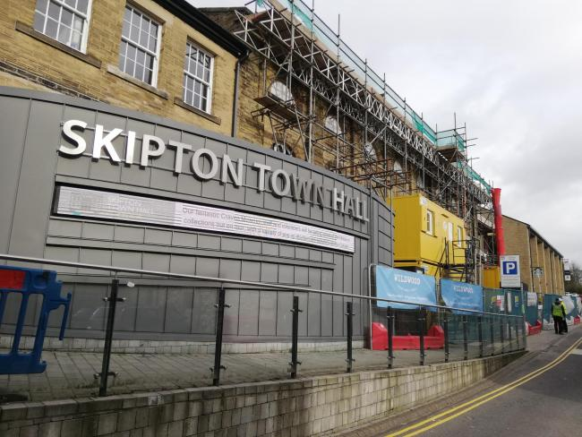 Skipton Town Hall is undergoing major transformation
