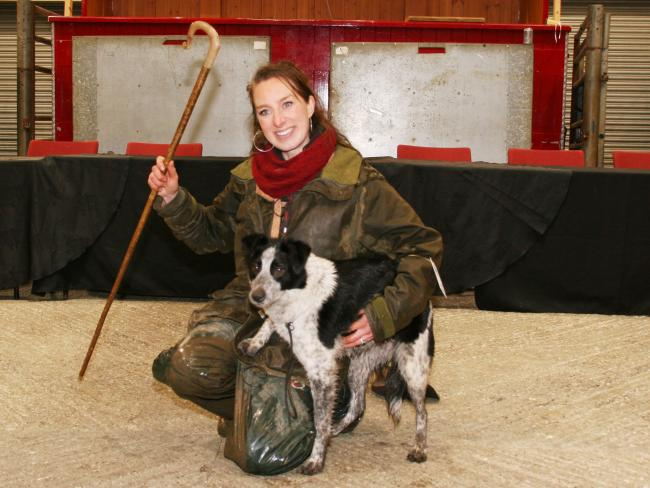 Emma Gray with last year's world record breaking dog