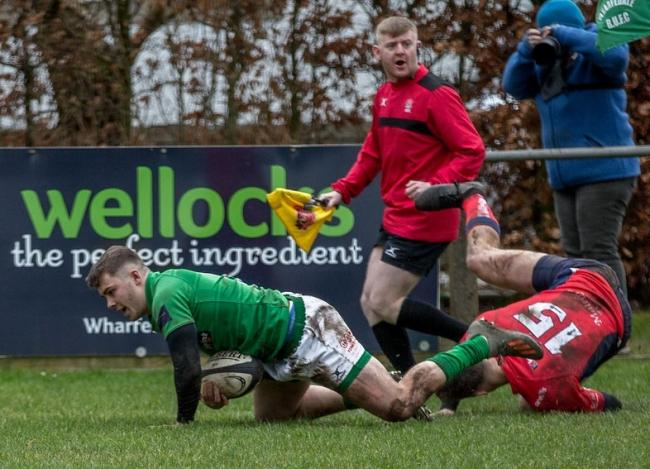 Oscar Canny scores Wharfedale's only try in last Saturday's 19-14 loss to Chester. Picture: Ro Burridge