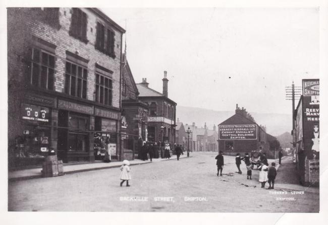 Sackville Street, Skipton. Picture from Rowley-Ellwood Collection