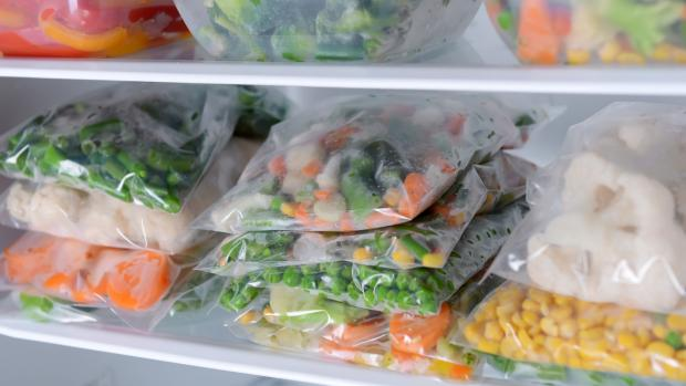 Craven Herald: Free up unused space by freezing foods flat in bags and stacking them on top of each other. Credit: Getty Images / serezniy