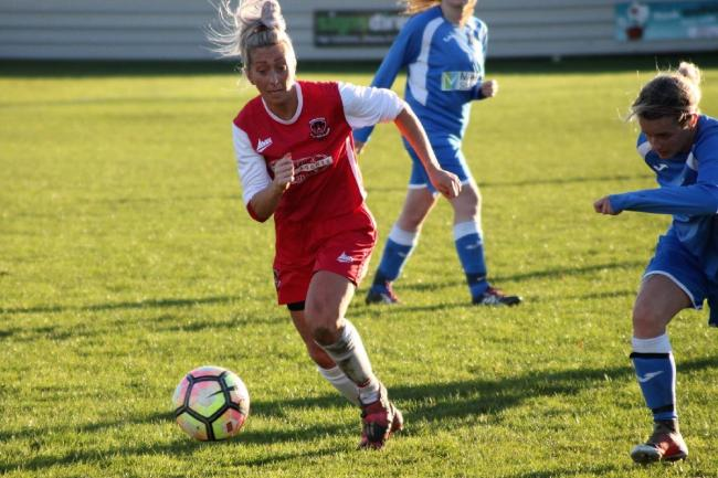 Amy Wroot thought she had won it late on for Thackley Picture: Megan Woollias