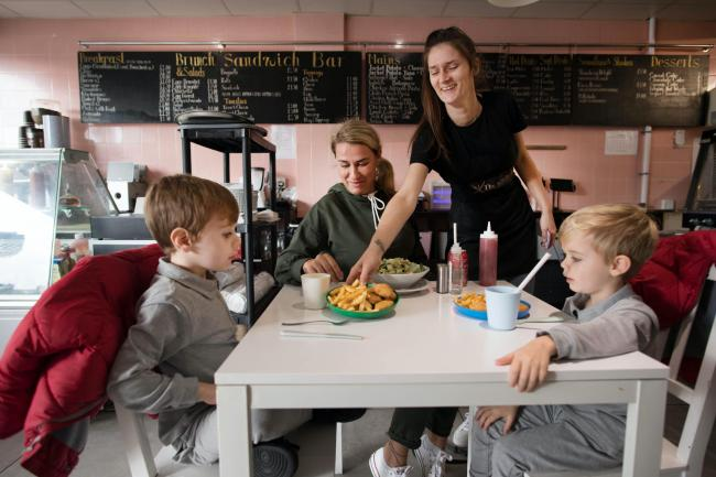 Staff at the Kitchen cafe in Bermondsey, London, are providing free school meals for children over the half-term holidays