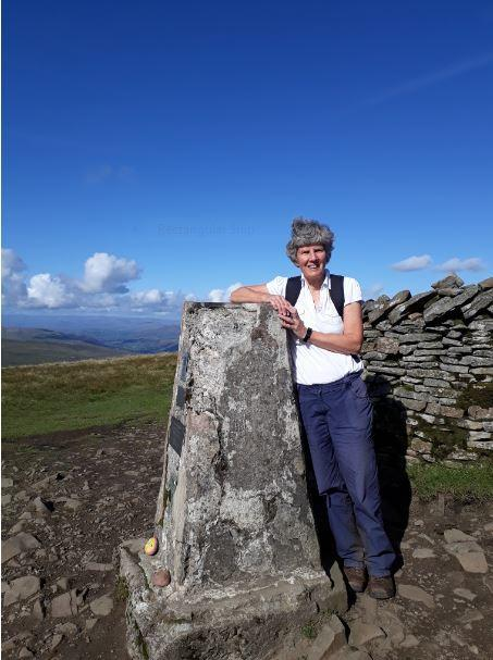 Maggie Bruno, at the top of Whernside