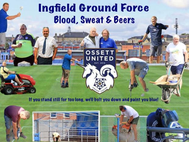 Craven Herald: Ossett are blazing a trail both on and off the pitch with their innovative 'Ground Force programme'