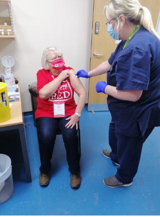 Haemophiliac Lynn thrilled to get her Covid jab