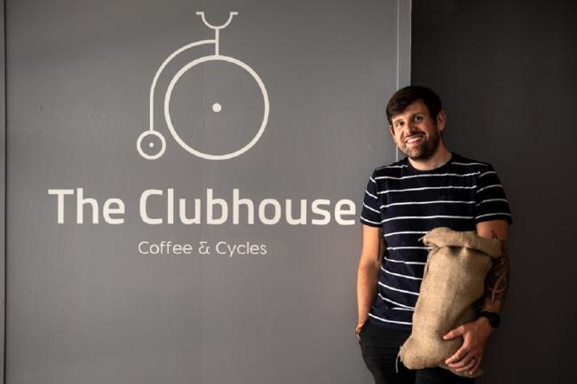 Kane Pulford-Roberts, of The Clubhouse Coffee and Cycles. Picture Jo Denison