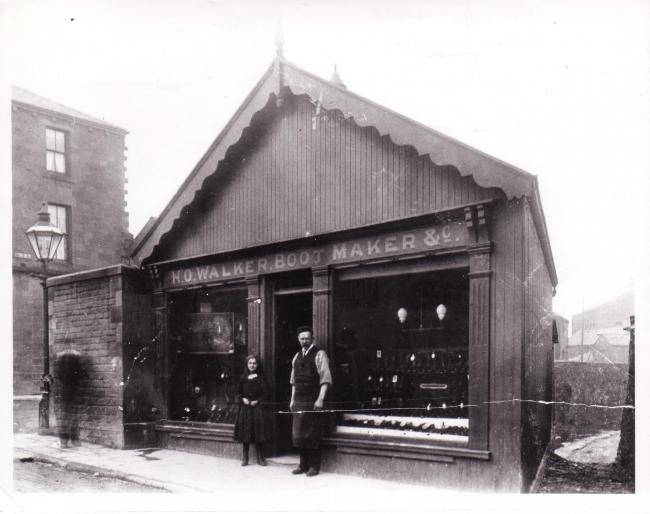 Walker boot maker, Skipton. Rowley Collection