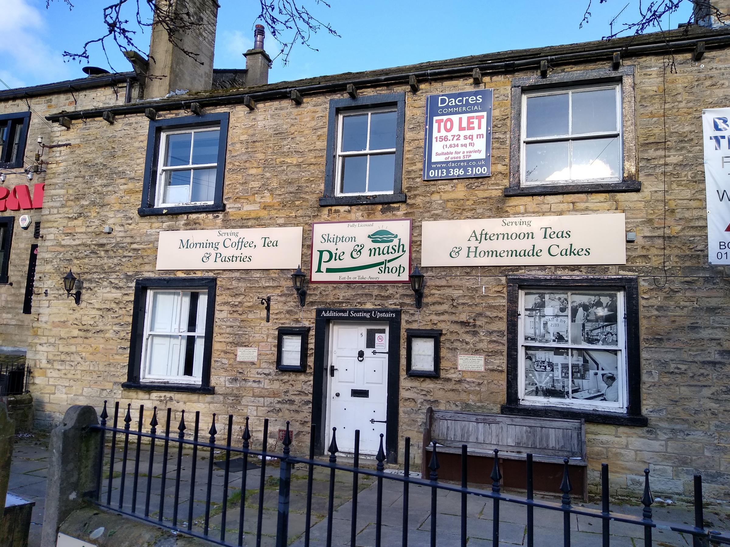 Pie & Mash cafe, in Skipton, closes permanently, but a new let has been agreed