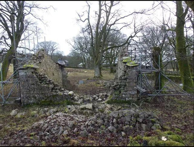 Barn at Malham Tarn which collasped due to soil shrinkage. Pic National Trust -PA.