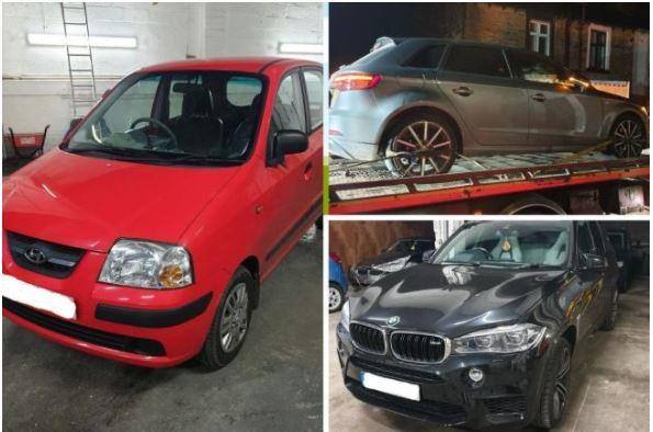 Vehicles seized in Pendle area