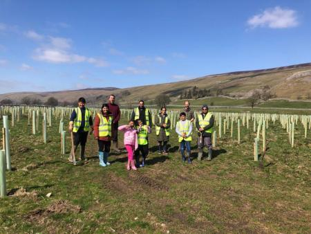 Members of SNM Centre for Oneness planting trees in Arncliffe