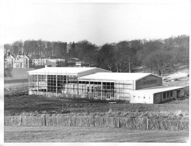 Aireville Pool construction. Rowley Collection
