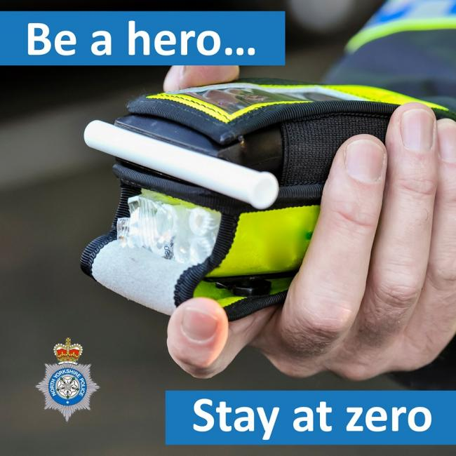 Police urge drivers to 'be a hero and stay at zero'