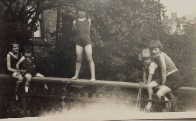Fun on Eller Beck in bygone days. Pic Ann Garner