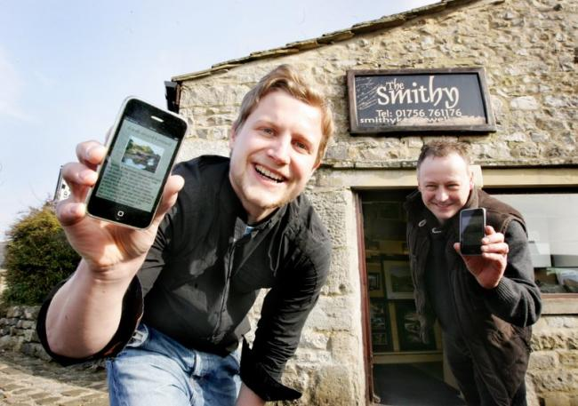 Karl Helliwell and Carl Hessel launch the smart phone application for Kettlewell
