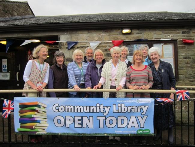 The official opening of the community library