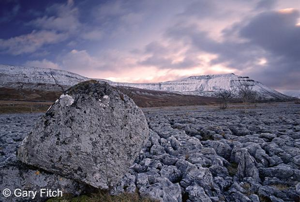 Gary Fitch's photograph, Ingleborough at dusk
