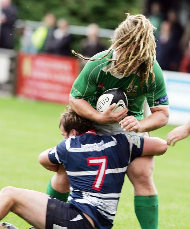 The flowing dreadlocks of Wharfedale's Adam Howard